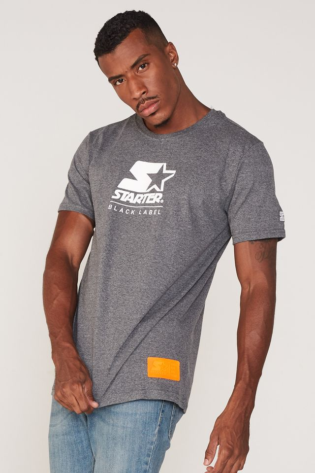 Camiseta-Starter-Estampada-Cinza-Mescla-Escuro