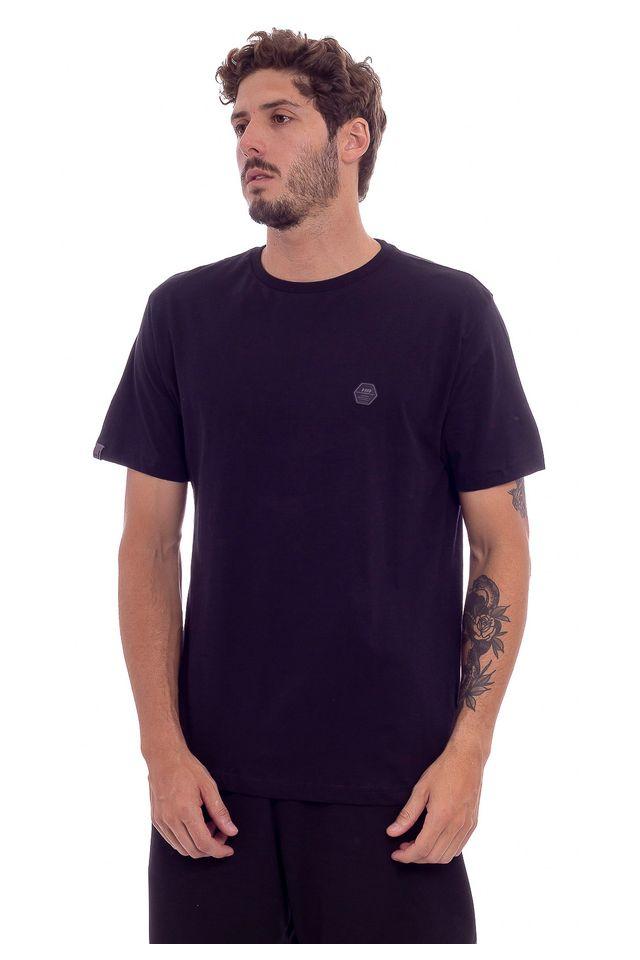 Camiseta-Hawaiian-Dreams-Estam-Basic-Label-Preta