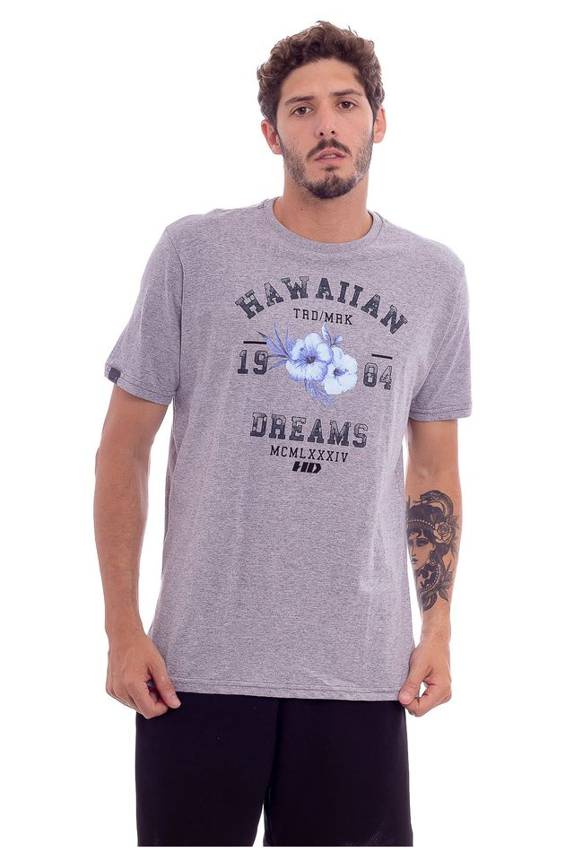 Camiseta-Hawaiian-Dreams-Estampada-Varsity-Mescla