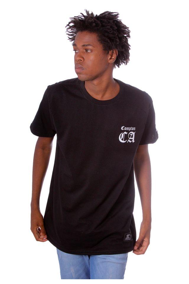 Camiseta-Starter-Estampada-Preta