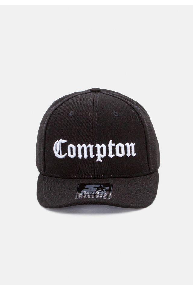 Bone-Starter-Aba-Curva-Strapback-Compton-Preto