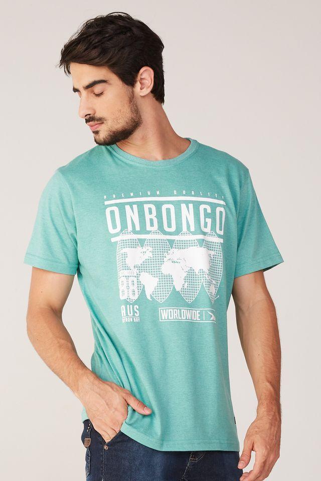 Camiseta-Onbongo-Estampada-Verde-Mescla