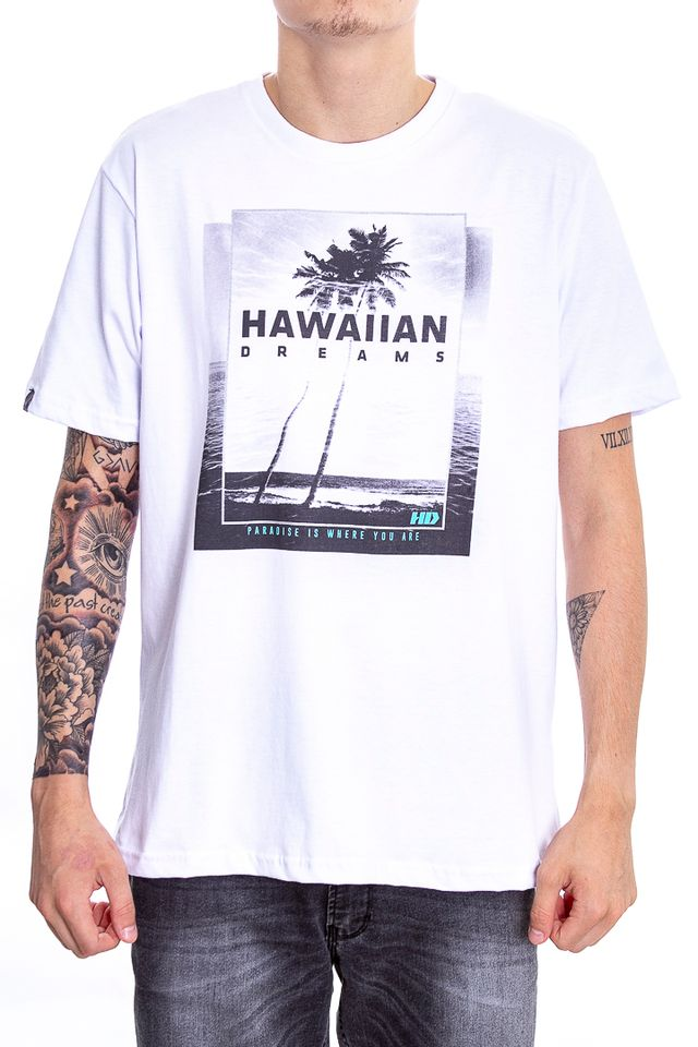 Camiseta-Hawaiian-Dreams-Basica-Marinho