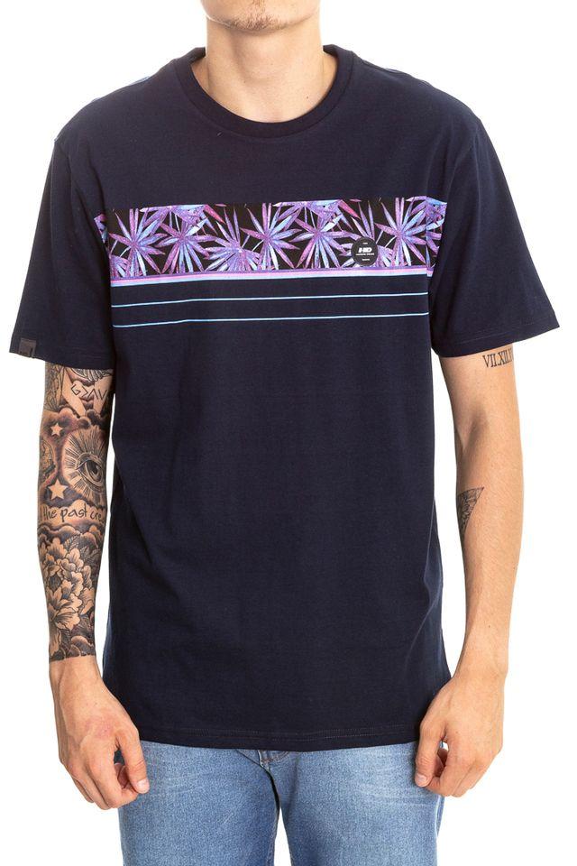 Camiseta-Hawaiian-Dreams-Estampada-Beroque-Azul-Marinho