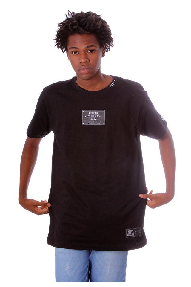 Camiseta-Starter-Estampada-Compton-Tape-Preta