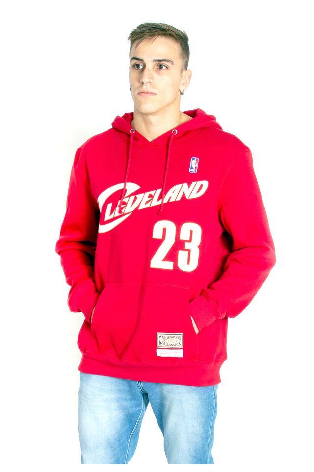 Moletom-Mitchell---Ness-Fechado-Com-Capuz-Cleveland-Cavaliers-Lebron-James-Vermelho