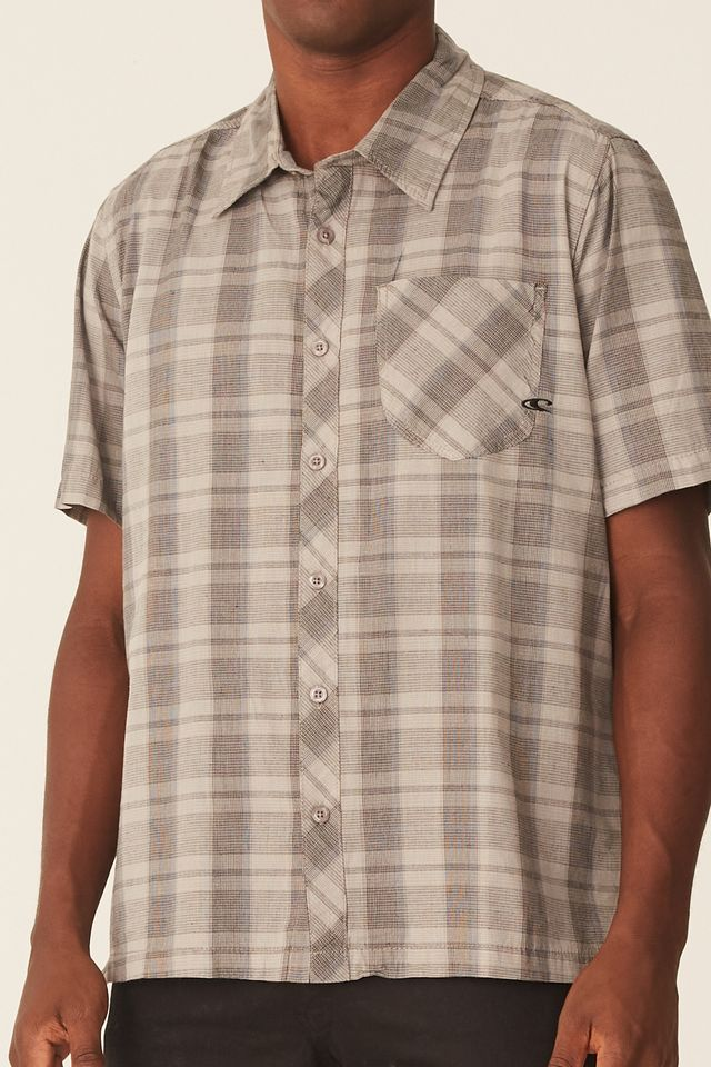 Camisa-Oneill-Manga-Curta-Ventor-Bege