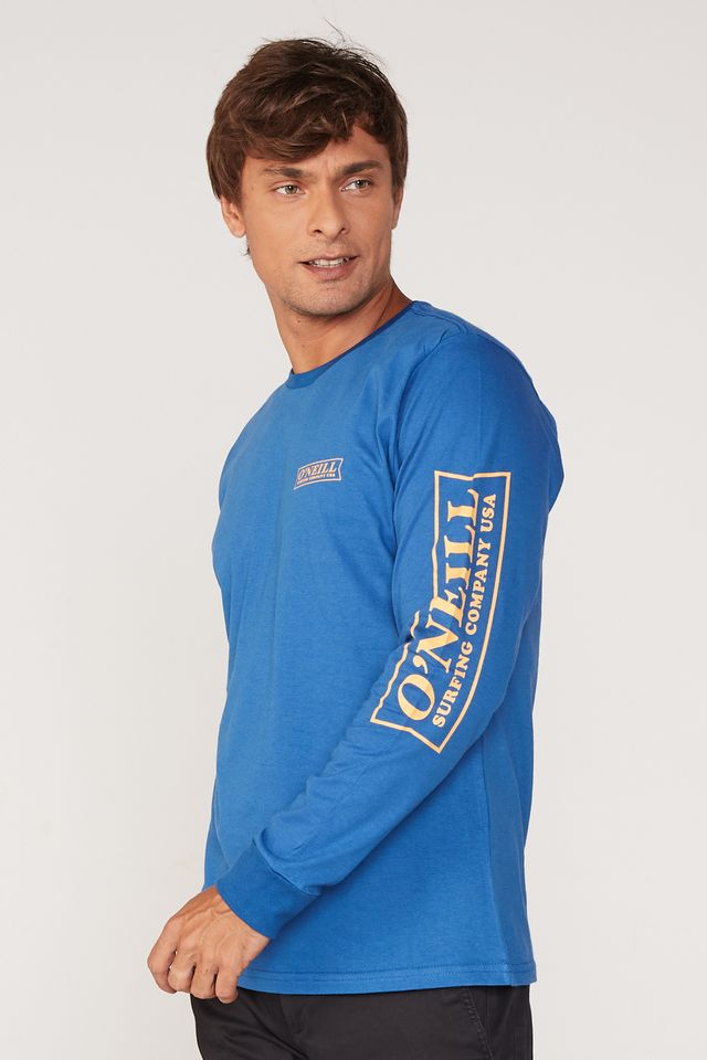Camiseta-Oneill-Manga-Longa-Estampada-Azul