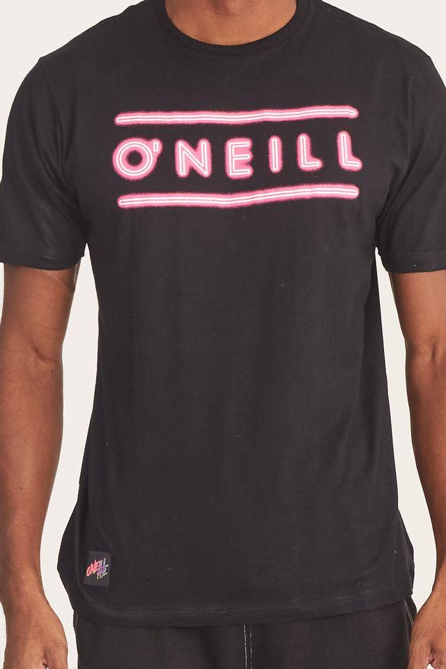 Camiseta-Oneill-Estampada-Preta