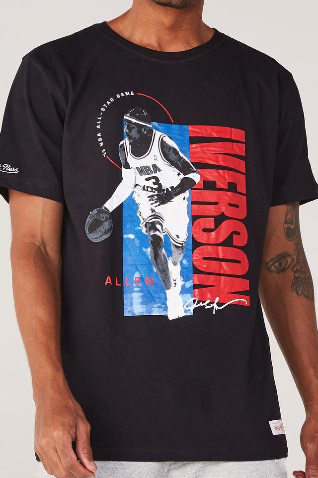 Camiseta-Mitchell---Ness-Estampada-All-Star-Allen-Iverson-Preta