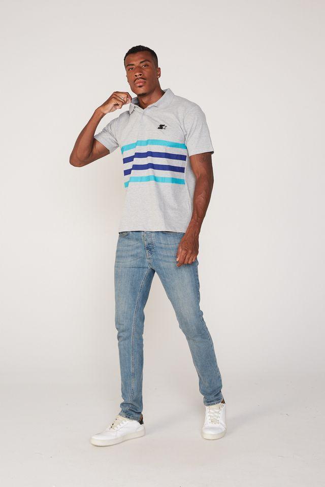 Camisa-Polo-Starter-Manga-Curta-Piquet-Estampada-Cinza-Mescla