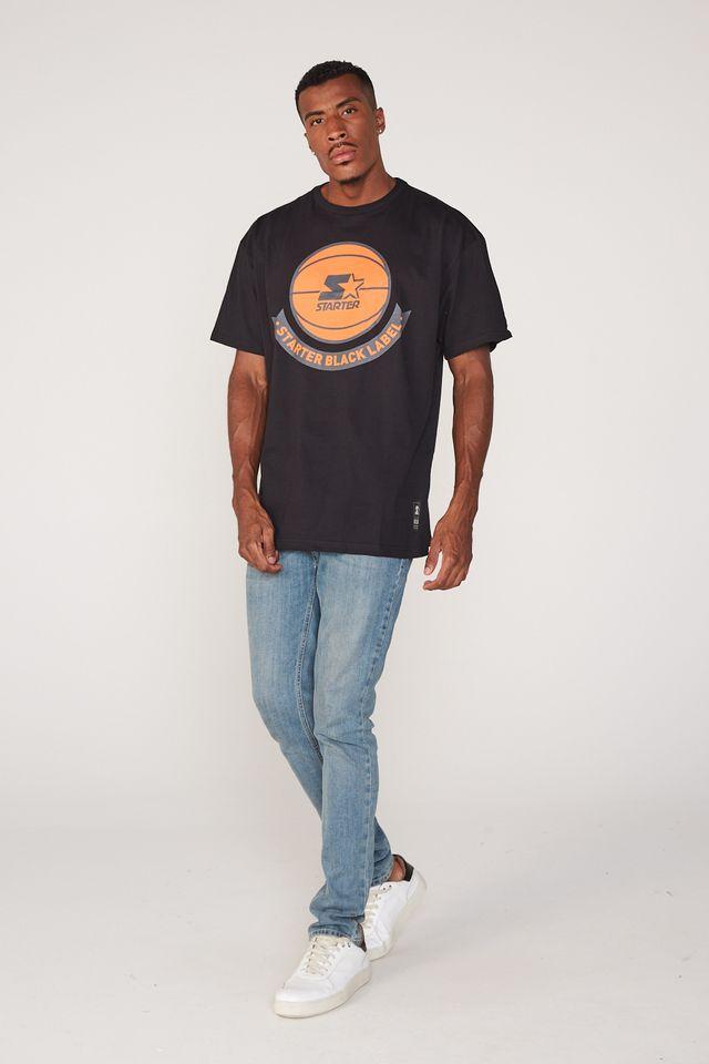 Camiseta-Starter-Plus-Size-Estampada-Preta