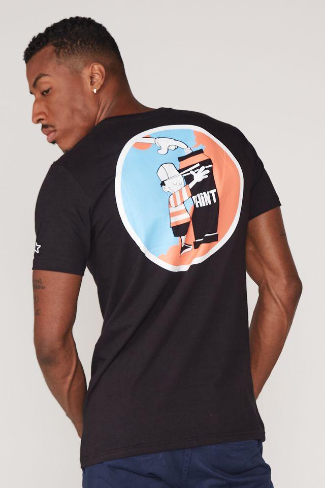 Camiseta-Starter-Estampada-Makes-Print-Collab-Drots-Preta