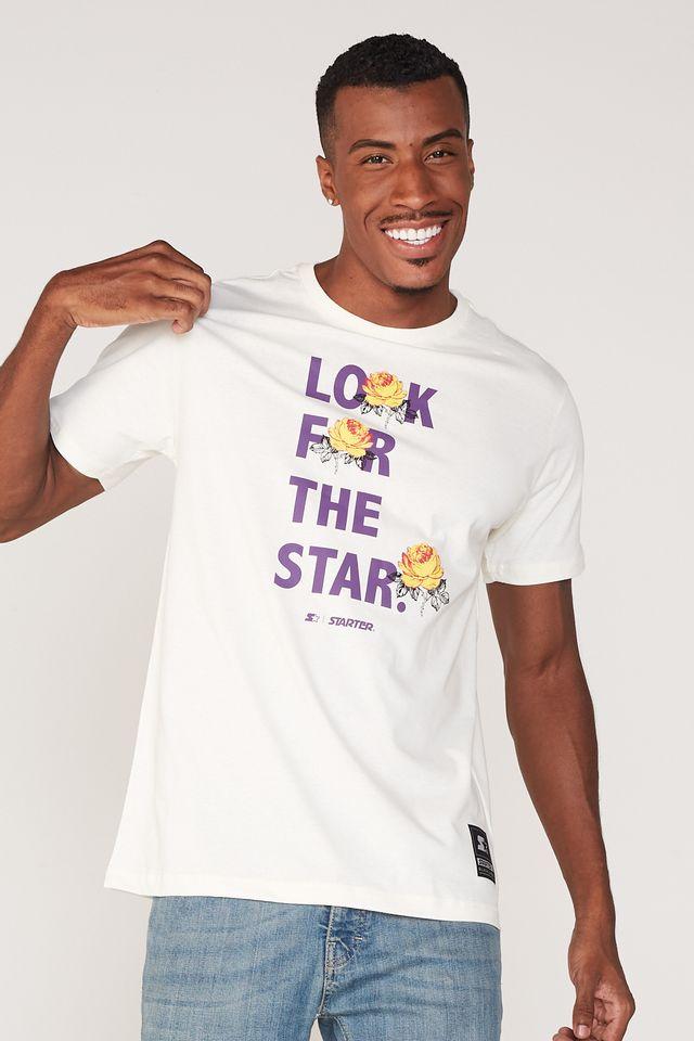 Camiseta-Starter-Estampada-Look-For-The-Star-Off-White