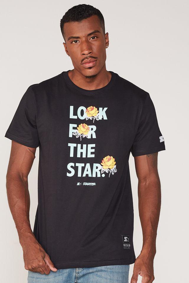 Camiseta-Starter-Estampada-Look-For-The-Star-Preta