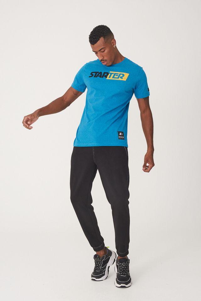 Camiseta-Starter-Estampada-Azul-Mescla