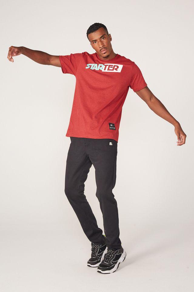 Camiseta-Starter-Estampada-Vermelha-Mescla