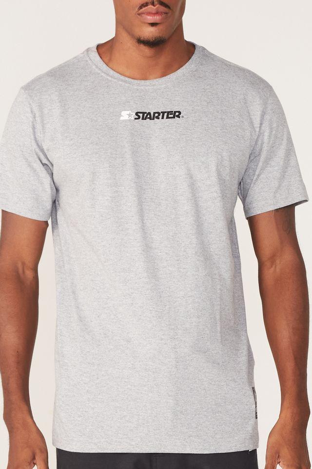 Camiseta-Starter-Basic-Estampada-Cinza-Mescla