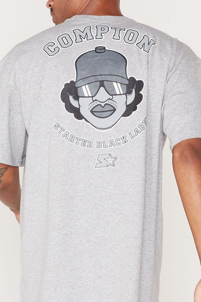 Camiseta-Starter-Plus-Size-Estampada-Compton-Cinza-Mescla