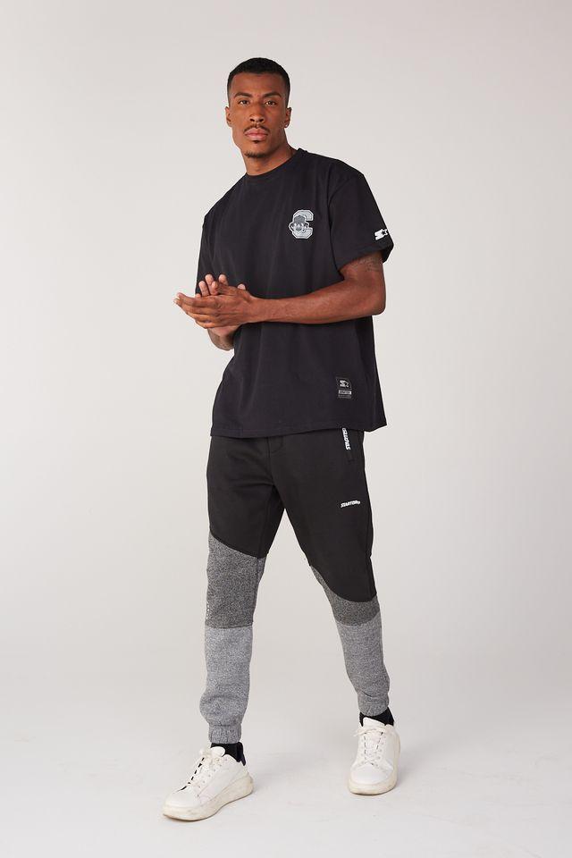 Camiseta-Starter-Plus-Size-Estampada-Compton-Preta