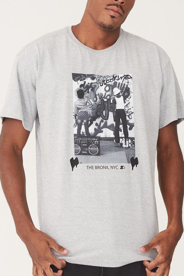 Camiseta-Starter-Plus-Size-Kids-In-The-Bronx-Cinza-Mescla