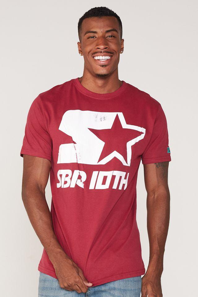 Camiseta-Starter-Estampada-Logo-Collab-Sneakersbr-Vinho