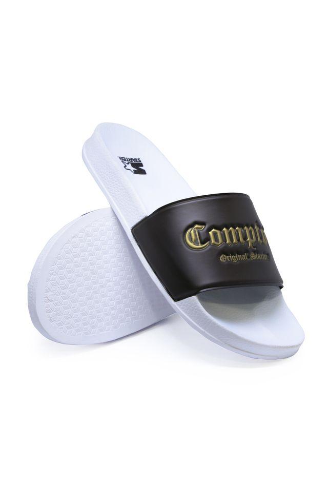 Chinelo-Starter-Slide-on-Compton-Preto-Com-Dourado