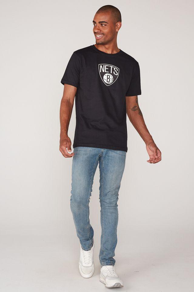 Camiseta-NBA-Estampada-Brooklyn-Nets-Preta