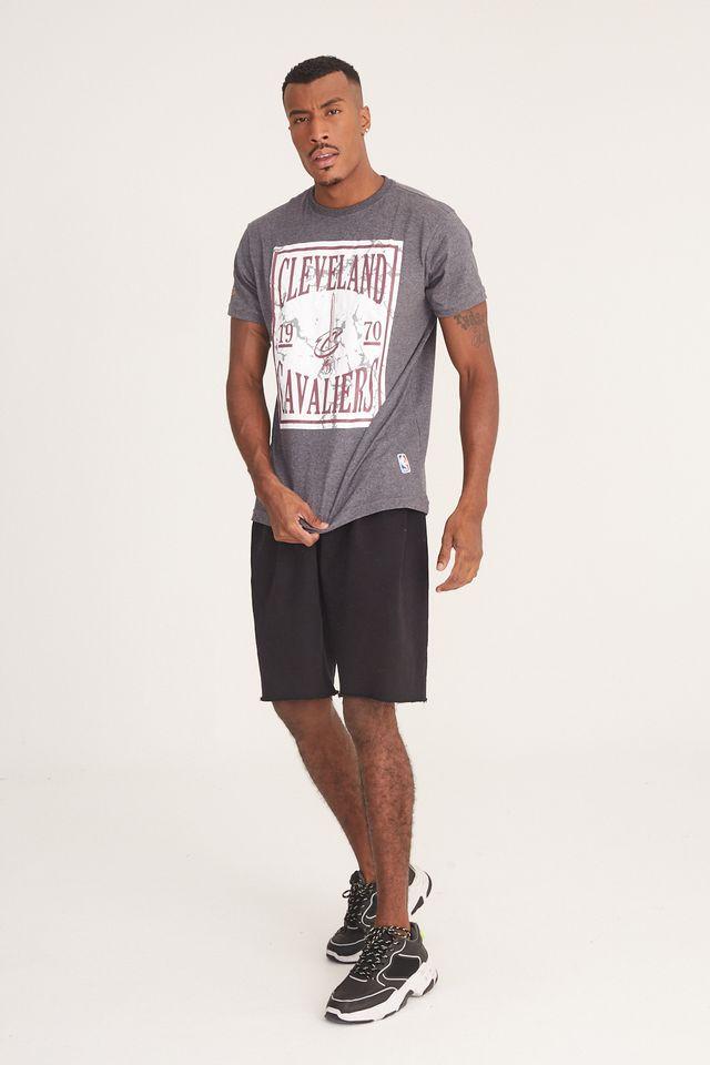 Camiseta-NBA-Estampada-Ticket-Cleveland-Cavaliers-Cinza-Mescla-Escuro
