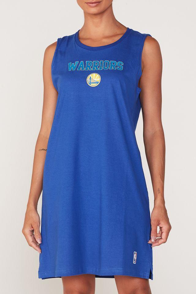 Vestido-NBA-Estampada-Golden-State-Warriors-Azul