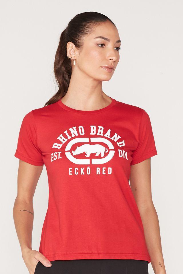 Camiseta-Ecko-Feminina-Estampada-Vermelha