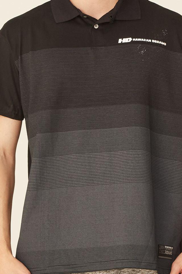 Camisa-Polo-HD-Plus-Size-Estampada-Preta