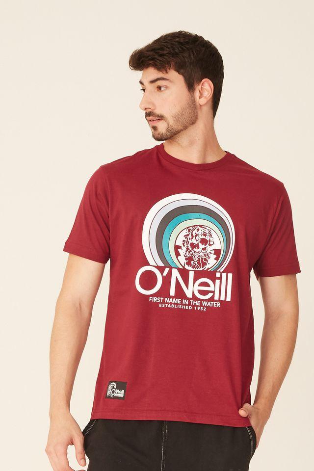 Camiseta-Oneill-Estampada-Vinho