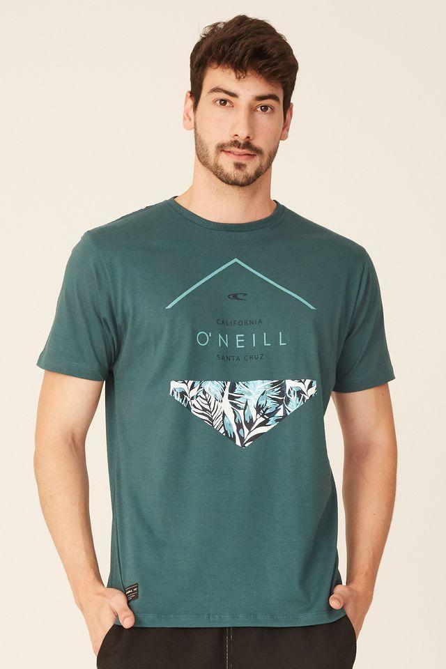 Camiseta-Oneill-Estampada-Verde