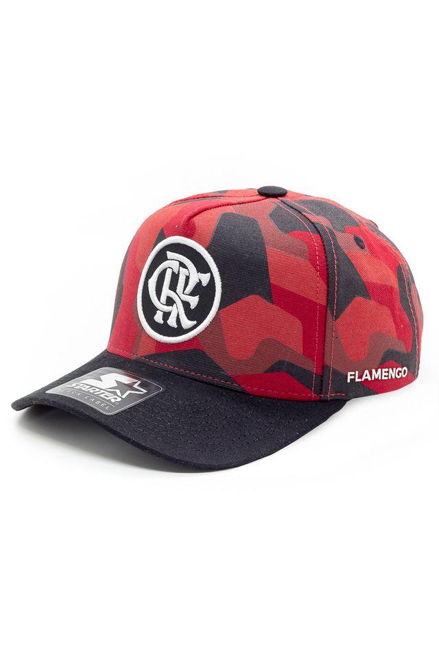 Bone-Starter-Aba-Curva-Snapback-Camuflado-Collab-Flamengo-Oficial-Vermelho