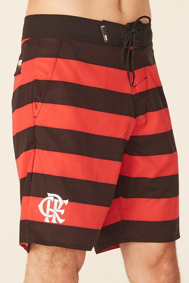 Boardshort-HD-Listrado-Collab-Flamengo-Oficial-Vermelho-e-Preto