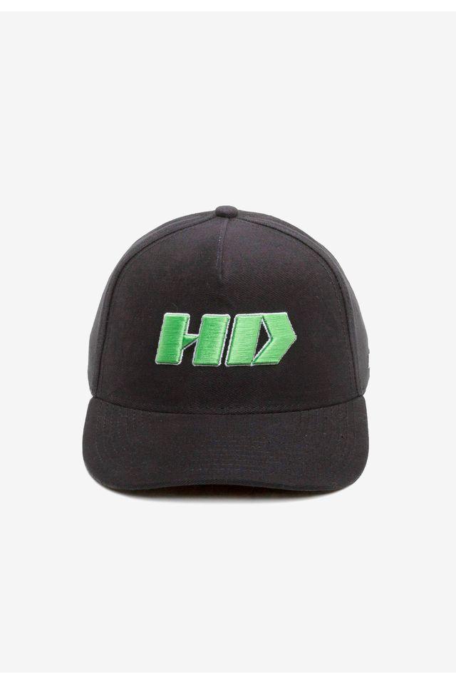 Bone-HD-Aba-Curva-Snapback-Preto