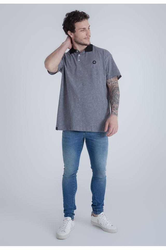 Camisa-Polo-HD-Plus-Size-Especial-Geometric-Cinza
