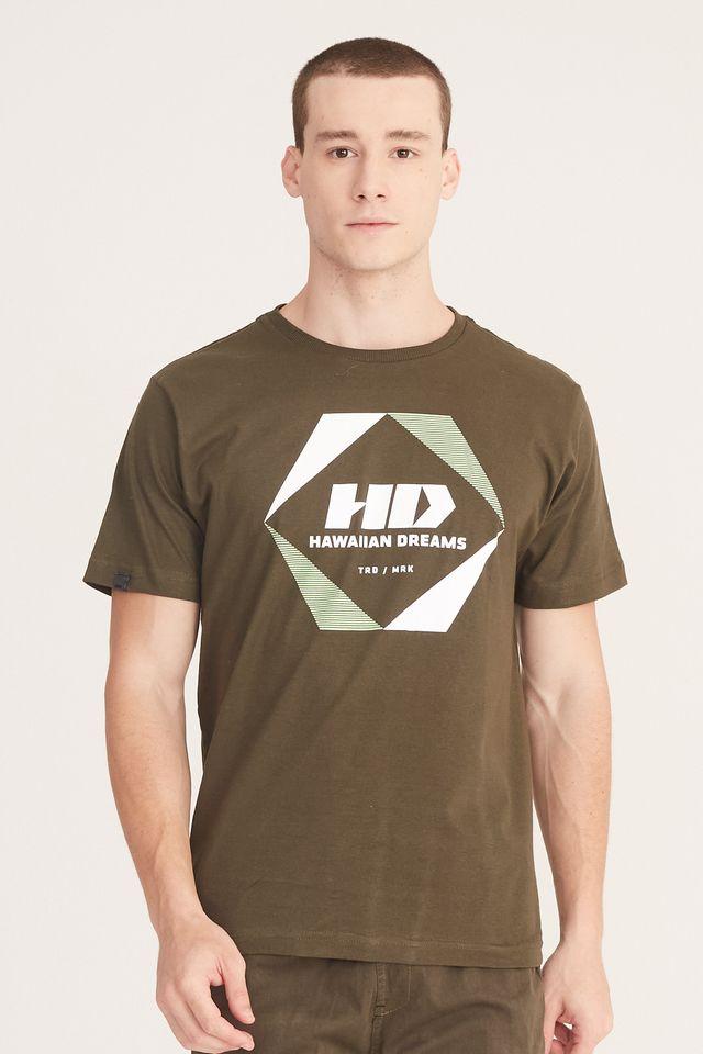 Camiseta-HD-Estampada-Verde-Musgo