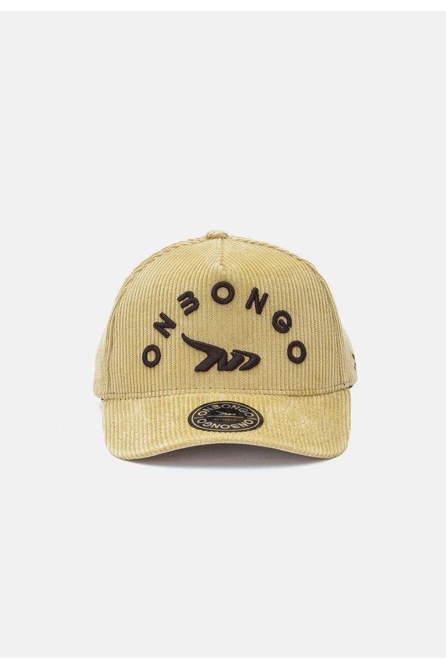 Bone-Onbongo-Aba-Curva-Snapback-Bege