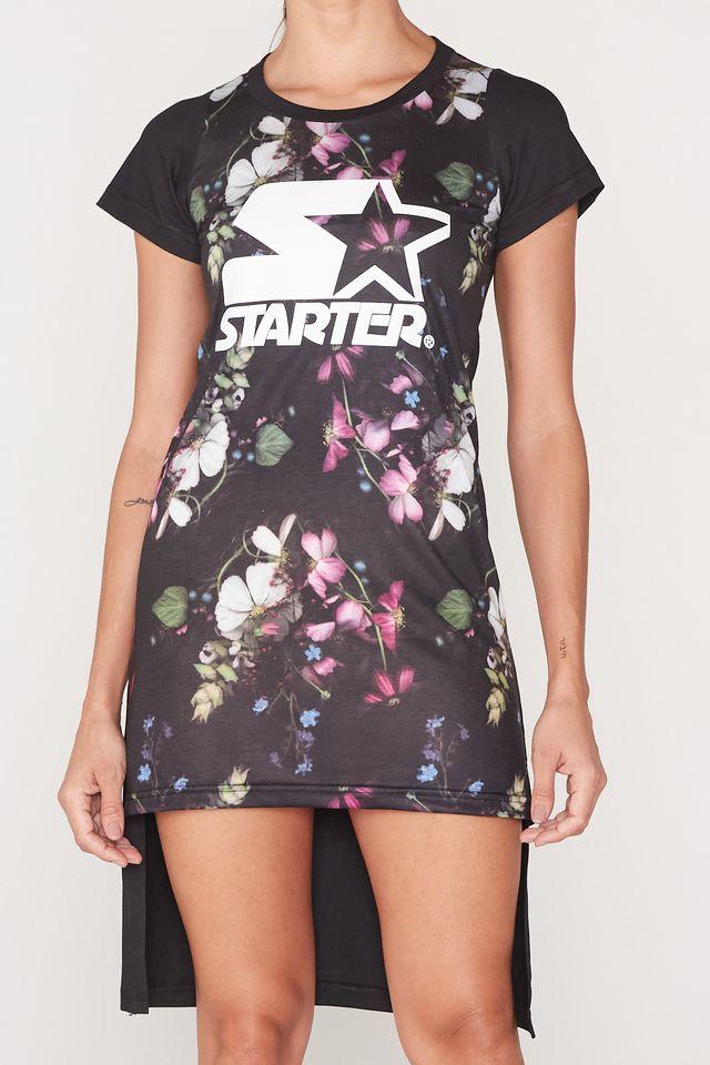 Vestido-Starter-Mullet-Manga-Curta-Estampado-Floral-Preto