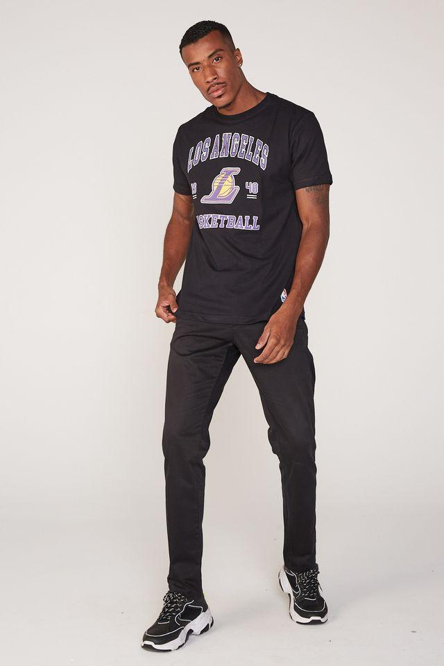Camiseta-NBA-Estampada-College-Los-Angeles-Lakers-Preta
