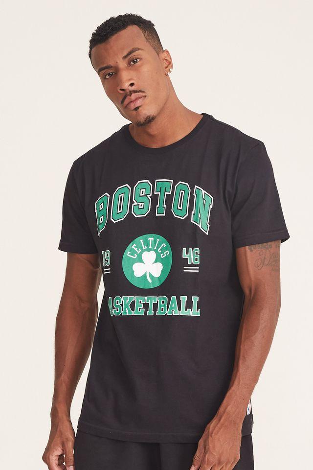 Camiseta-NBA-Estampada-College-Boston-Celtics-Preta