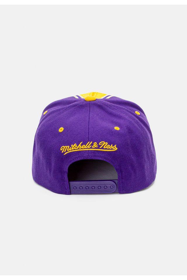 Bone-Mitchell---Ness-Aba-Reta-Snapback-Los-Angeles-Lakers-Kobe-Bryant-Roxo