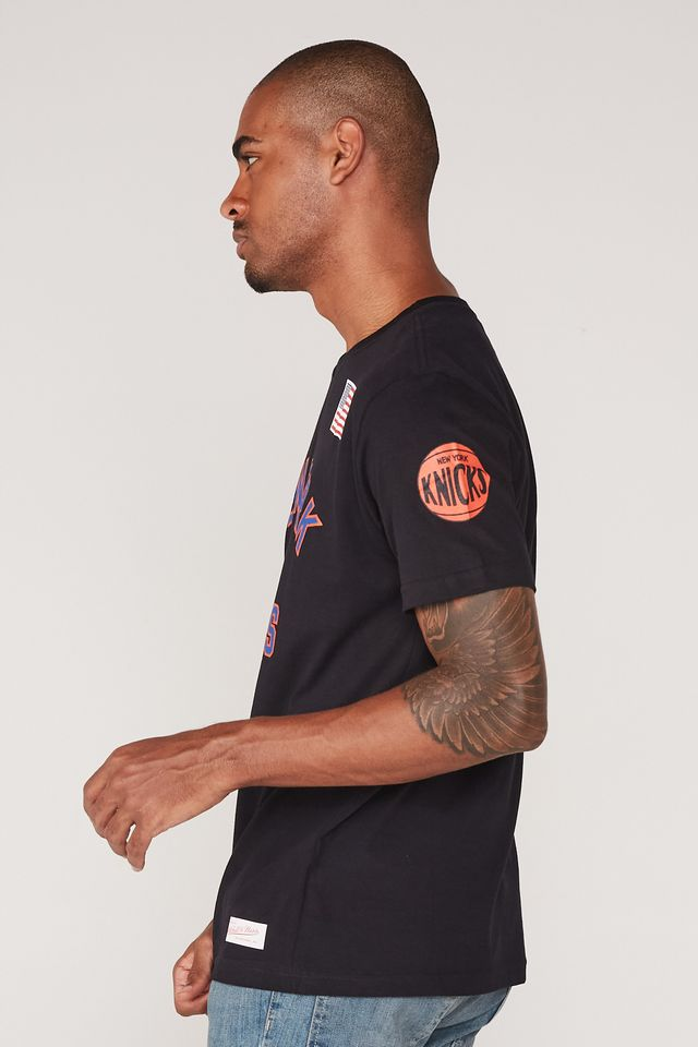 Camiseta-Mitchell---Ness-Estampada-New-York-Knicks-Preta