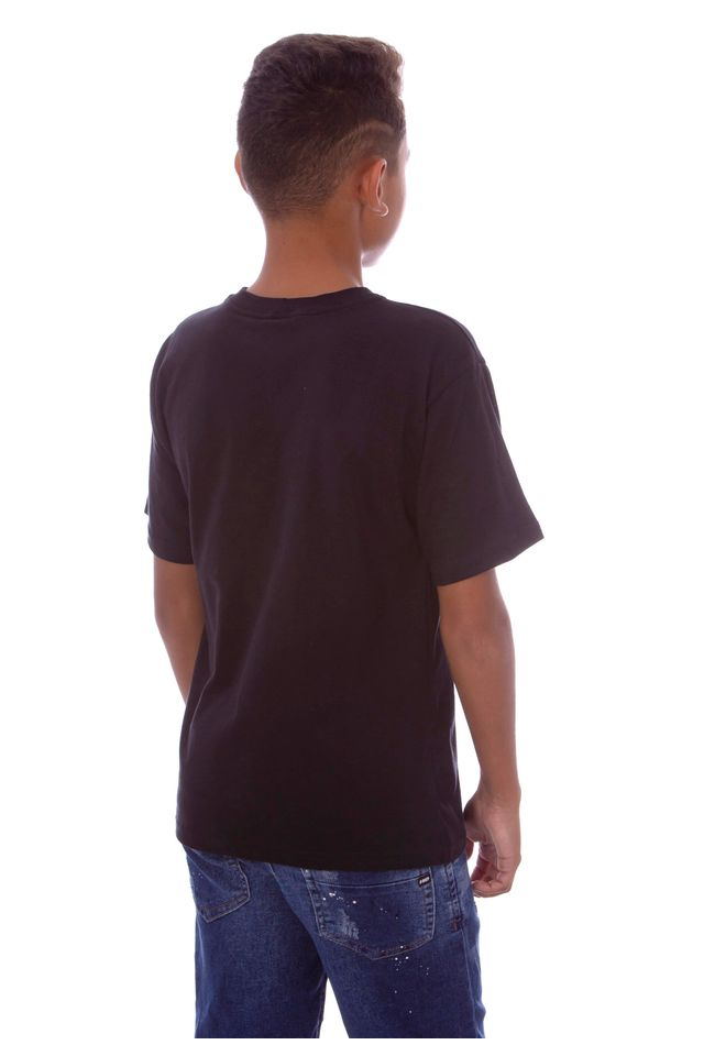 Camiseta-HD-Juvenil-Watercolor-Flow-Preta