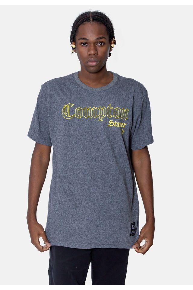 Camiseta-Starter-Estampada-Compton-Gold-Cinza-Mescla-Escuro