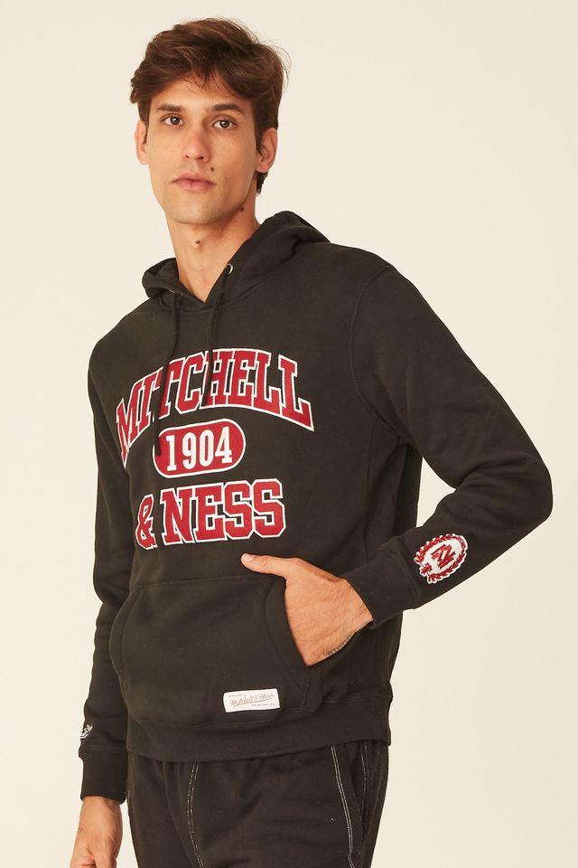 Moletom-Mitchell---Ness-Fechado-Com-Capuz-Branded-Preto