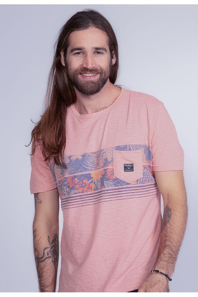 Camiseta-Oneill-Especial-Pocket-Crooked-Rosa