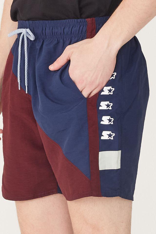 Shorts-Starter-OverLogo-Collab-Sneakersbr-Azul-Marinho